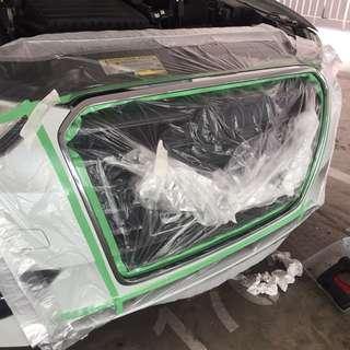 Dechrome Audi A3 plastidip plasti dip