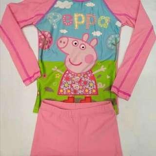 WL: Peppa Pig Rashguard Set For Girls (1-40 Yrs. Old)
