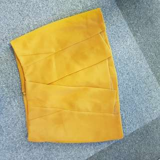 Royal Party mustard skirt