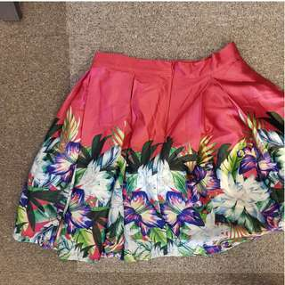 Apartment 8 pink tropical print skirt