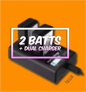NP-FW50 Battery for Sony Alpha A6500 A6300 A6000 A7r A7 LCD Dual-USB