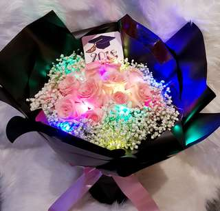 Rose Bouquet With Lights
