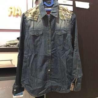 Preloved kemeja murah logo jeans
