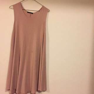 blush pink dress from brandy melville