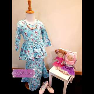 Cotton Peplum Kurung