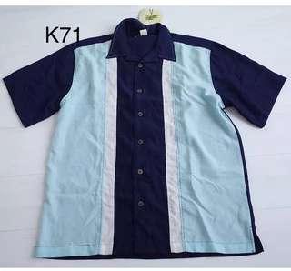 5/10 Vintage- 精工刺繡 漂亮暗紋 短袖襯衫