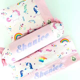 Unicorn Dreams Personalised 3 Piece Baby Pillow Set