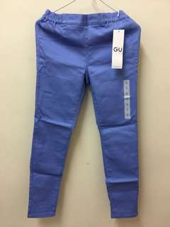 GU淺藍色長褲