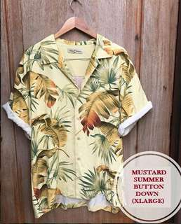 Tommy Bahama Mustard Summer Floral Button down