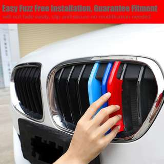 M-Colored Grille Stripe Plastic Snap-On Overlays For Most  BMW 1 Series 2012 -2018 - Quality assurance.