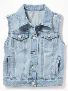 Light washed denim vest