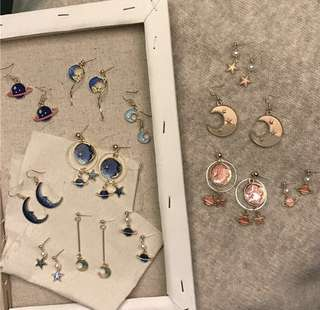 Dangle Pastel Astro Themed Earrings
