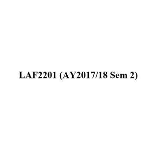NUS LAF2201 French 2