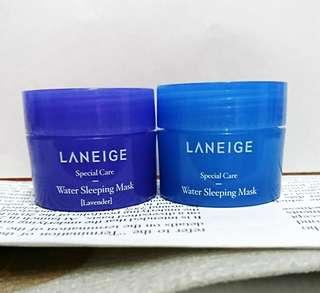💦女人最愛💕 Laneige Water Sleeping Mask 睡眠面膜 及 薰衣草睡眠面膜 兩款 試用裝 旅行裝 15ml💦