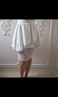 JOLIE CLOTHING WHITE LACE SKIRT
