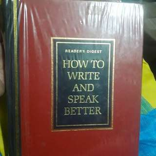 How to write and speak better(hard cover)