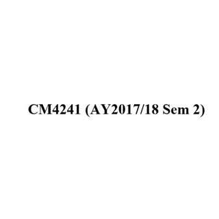 NUS CM4241 Trace Analysis