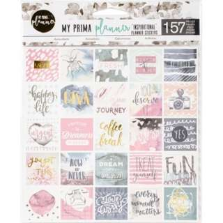 Prima Marketing - My Prima Planner - Planner Stickers with Foil Accents (Inspirational)