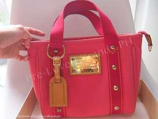 Louis Vuitton Pink Toile Antigua Cabas PM