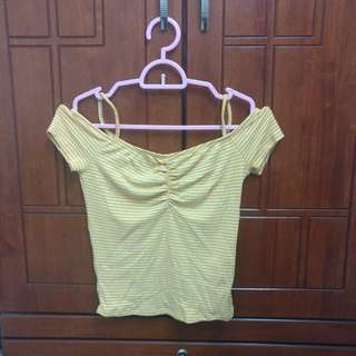 Cotton On Yellow Off Shoulder Top