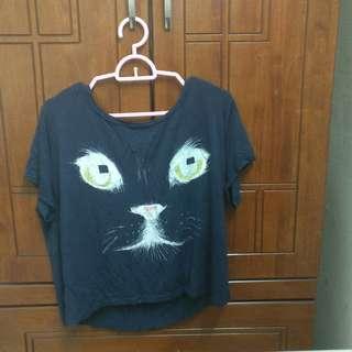 Cat Crop Top