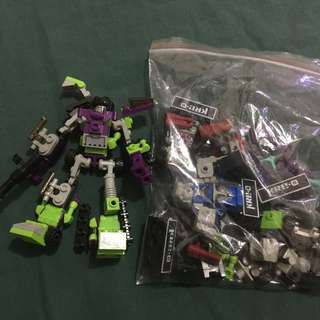 Kre-O transformers Devastator toy with other Kre-o