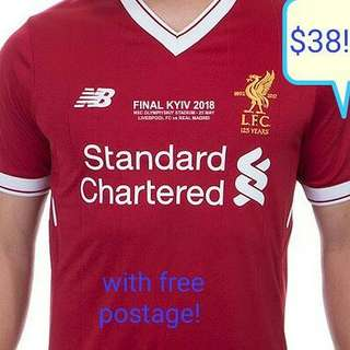 Liverpool Home 2017/8 Champions League Jersey