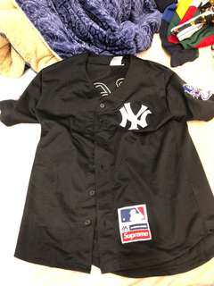 🚚 Supreme 洋基 棒球襯衫