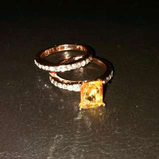 Faux Rose Gold Rings