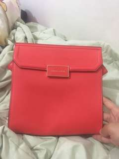 Red charles and keith bag
