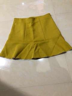 Hnm mustard skirt