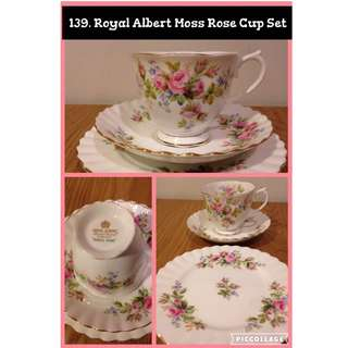 England Royal Albert Moss Rose Cup Set