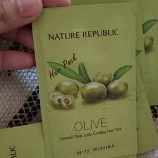 NATURE REPUBLIC OLIVE HAIR PACK