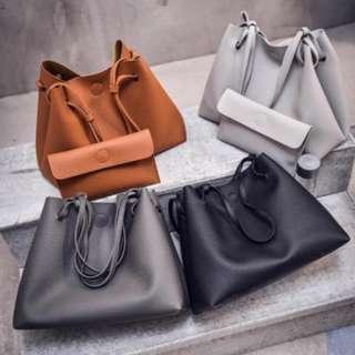 2018 fashion 2pcs Big handbag lather.