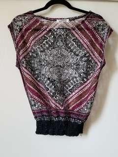 Crochet top soze xs