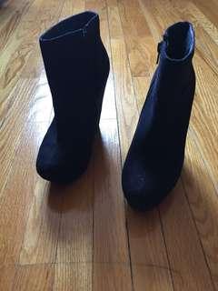 Black Swede booties