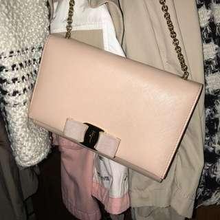 Ferragamo Vera bag small bag w chain card box receipt