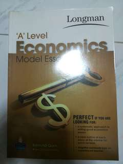 JC ALevel Longman Economics Model Essays