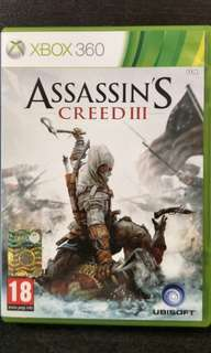 Xbox 360 Assassin's Creed III (able to play on Xbox One)