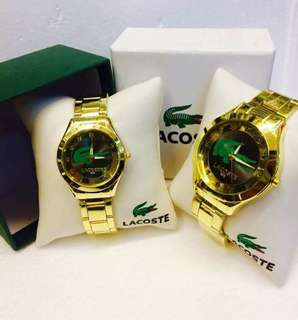 Lacoste Watches Pair