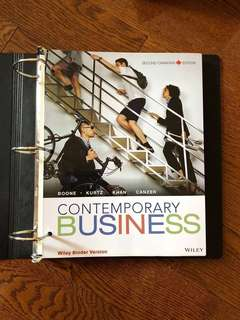 Contemporary Business (2nd Canadian Edition) Binder Version