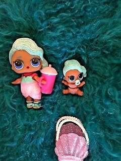 NEW ULTRA Rare LOL Surprise Doll Series 2 Splash Queen big sis & lil sis