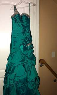 Turquoise puffy dress