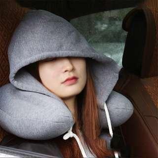 hoodie + travel neck pillow