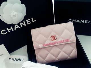 **RESERVE**🔴FOLLOWERS BENEFITS!🔴🌈AUTHENTIC BRAND NEW🌈👛LIMITED EDITION Pink CHANEL Wallet👛💋No Pet No Smoker Clean Hse💋
