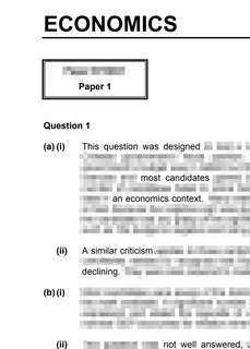 H2 Economics Markers' Comments
