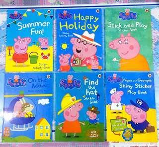 NEW~ Peppa Pig activity sticker 6 books set