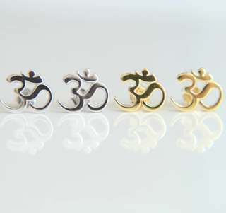 OM Earrings Unisex