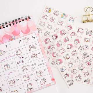 [ST] Loose Leaf Stickers: Bear & Rabbit