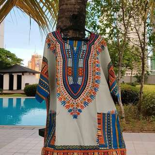 White Oversized Unisex Dashiki